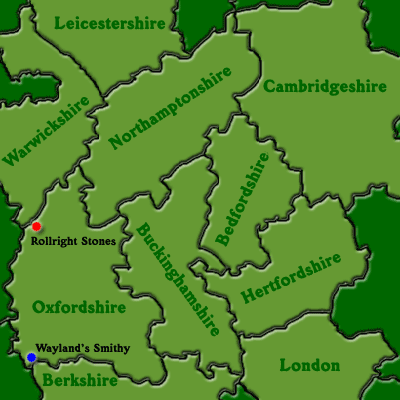 Map of England: Central South