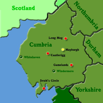 Map of Northen England