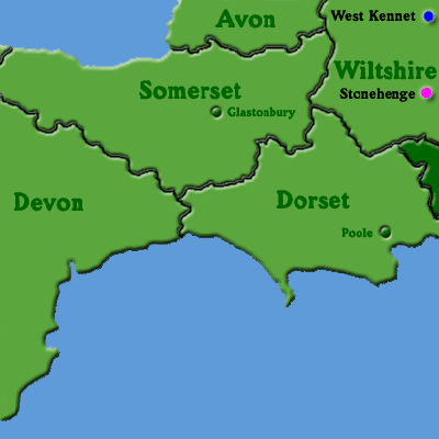 Map of England: South West