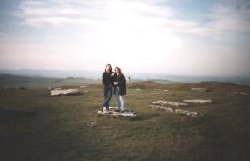 Burnsie and Matt at Arbor Low