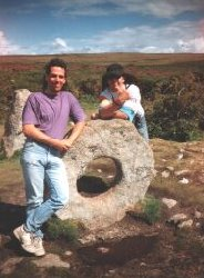 Gazza and Burnsie at Men-an-Tol
